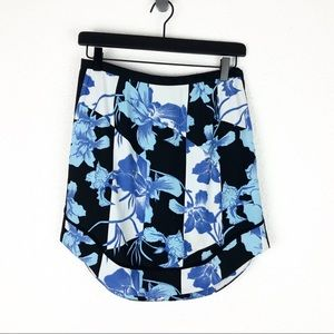 Minkpink Mini Skirt Blue Black Floral S